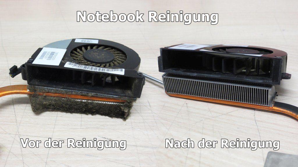 Notebook-Reinigung